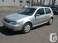2001 Volkswagen Golf Hatchback, 4cyl,