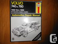 Volvo 740 & & 760 Haynes Repair work Handbook for 1982