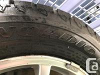 Brand new winter tires on Volvo 4 bolt rims. 195/60R15