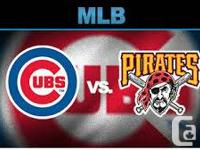 I have 2 tickets to the Cubs vs Pirates video game at
