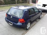 For sale certify and e- tested 2001 VW Golf . I am car