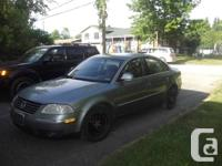 2005 VW TDI Passat available for sale.  Information.  -