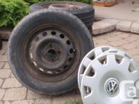 """3 VW steel Wheels 13"""", 4 bolt pattern, 4"""" centers"""
