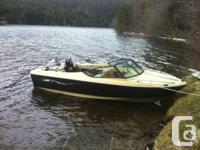 17ft closed bow ski/wake/tube / fish watercraft with