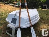 Eight ft Walker Bay dinghy and oars, in good