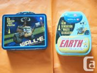 Wall-e tin lunch box and tin back pack for children -