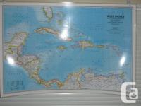 Various high quality wall maps of the world and