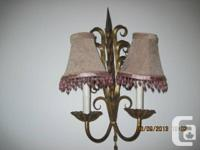 wall sconce, with shades 35.00 dingroom buffet,