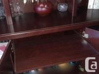 Dark Cherry wood look, this unit is versatile and in