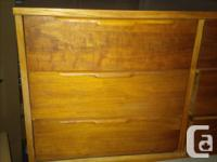 Walnut 9 drawer solid wood dresser. I bought this