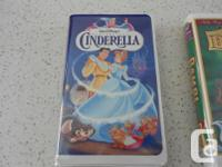 All in perfect condition! Three VHS Walt Disney movie