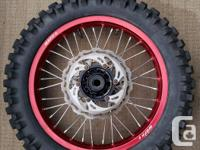 one set of wark 9 rims off a 2009 DRZ-400SM the rims