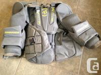 Warrior Ritual Senior Medium Chest Protector. EUC