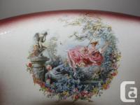Vintage Extra-large Ceramic Pitcher and Wash Basin