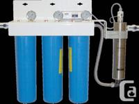 We sell highend water treatment equipment and supplies