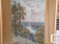 Two framed original watercolour paintings by well known