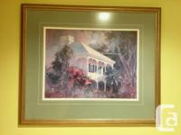 """Signed Irma Quigley watercolor print """"Tropical"""