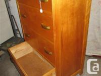 THIS ALL WOOD DRESSER IS 29 1/2 INCHES WIDE, 17 1/2