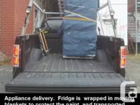 We deliver furniture, appliances and other items with