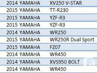 Contact Us Today For Your Next Yamaha Motorcycle!