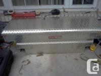 Weather Guard aluminum tool box Diamond plated wide 62