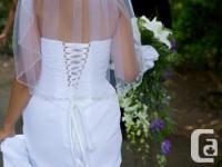 Beautiful wedding dress with Swarovski Crystal detail