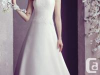 Mikaella Re-embroidered Lace and Organdy Wedding Dress.