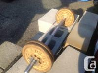 WEIDER BARBELL weight set 40 pounds Curling bar It is