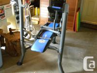 Very nice weight bench plus 240 pounds of weights + 5