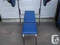 Weight bench for sale. Good condition. 4 incline