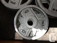 Weights for sale. $0.75 to $1.00 an lb. If you're