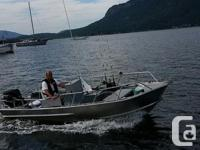 16' Welded Aluminum Boat (Like New) 50 Hp Suzuki Engine