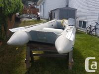 8.6 west marine dinghy. Comes with paddles, pump and