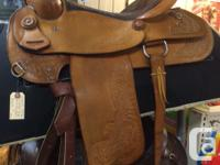 "15 1/2"" Western Eamore saddle. Superb shape. Light oil"