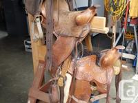 3 saddles, pads, bridals, New Zealand blanket, saddle