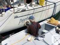 This float lets you stand while polishing your boat or