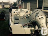 17ft Boston Whaler with 50hp Honda tiller, brand-new