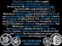 Wheel Covers Unlimited offers complete wheel ?Repairs?