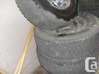 """245/75/16"""" LT Blizzak W965 tires on-8 bolt GMC wheels"""