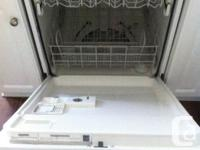 Whirlpool gold built-in dishwasher only 2 years old in