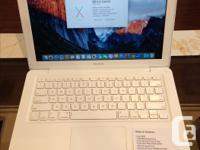 """We have a White 13"""" MacBook. Specifications: OS X"""