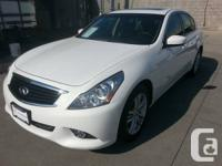 We have a 2013 pearl white on graphite leather G37x