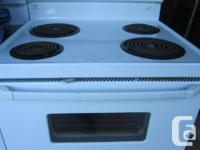 Older coil-top stove for sale. The elements and oven