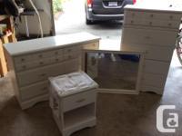 You get the 5 drawer dresser, 6 drawer chest, bedside