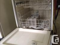 White built in dishwasher for sale, holds a lot of