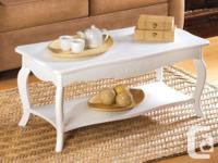 "White Elegant Coffee Table ""NEW""  (Item# 13226)  A"