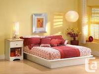 The White Full-Sized Platform Bed by South Shore looks