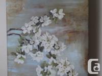Beautiful floral canvas wrap for sale, suitable for