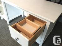 IKEA Hemnes desk in excellent shape. We don't have room
