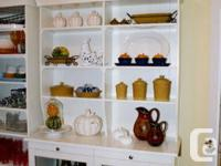 White, two-piece hutch and buffet from IKEA's Liatorp